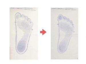 足指のグリップ変化