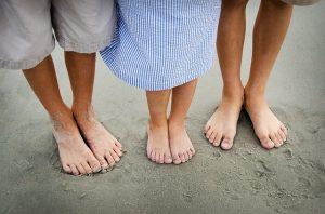 子供達の足