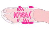 ヒモ靴の締めの効果